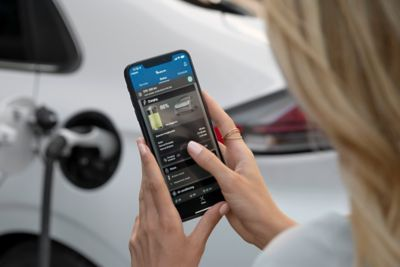 The connectivity app of a Hyundai IONIQ