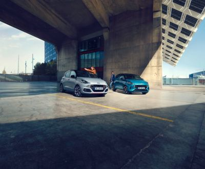 The All-New Hyundai i10 N Line and Hyundai i10 parked on street