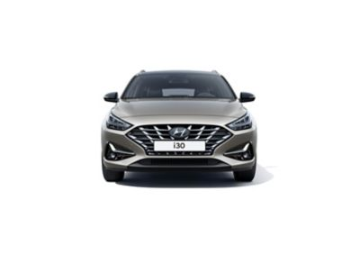 The new Hyundai i30 Wagon pictured from the front.