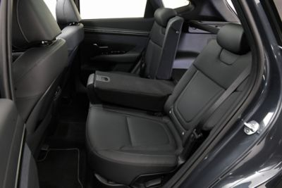 A photo of the folded rear seats in the all-new Hyundai Tucson.