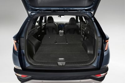 A photo of the folded seats in the all-new Hyundai Tucson.
