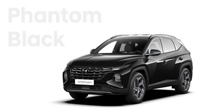The different color options for the all-new Hyundai Tucson Hybrid compact SUV: Phantom Black.