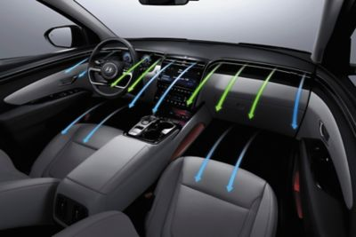 The Multi-Air Mode technology inside of the all-new Hyundai Tucson compact SUV.