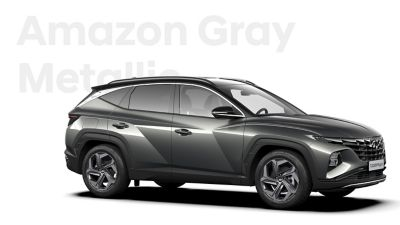 The different color options for the all-new Hyundai TUCSON Plug-in Hybrid compact SUV: Amazon Grey.