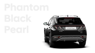 The different color options for the all-new Hyundai TUCSON Plug-in Hybrid compact SUV: Phantom Black.