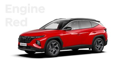 The different color options for the all-new Hyundai TUCSON Plug-in Hybrid compact SUV: Engine Red.