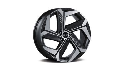 "The 19"" alloy wheels of the all-new Hyundai TUCSON Plug-in Hybrid compact SUV."